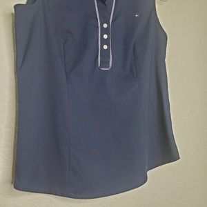 Tommy Hilfiger Tops - NWT TOMMY HILFIGER | Sleeveless Navy Collar Top